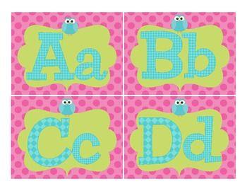Owl Word Wall Labels - 3rd Grade's a Hoot - TeachersPayTeachers.com