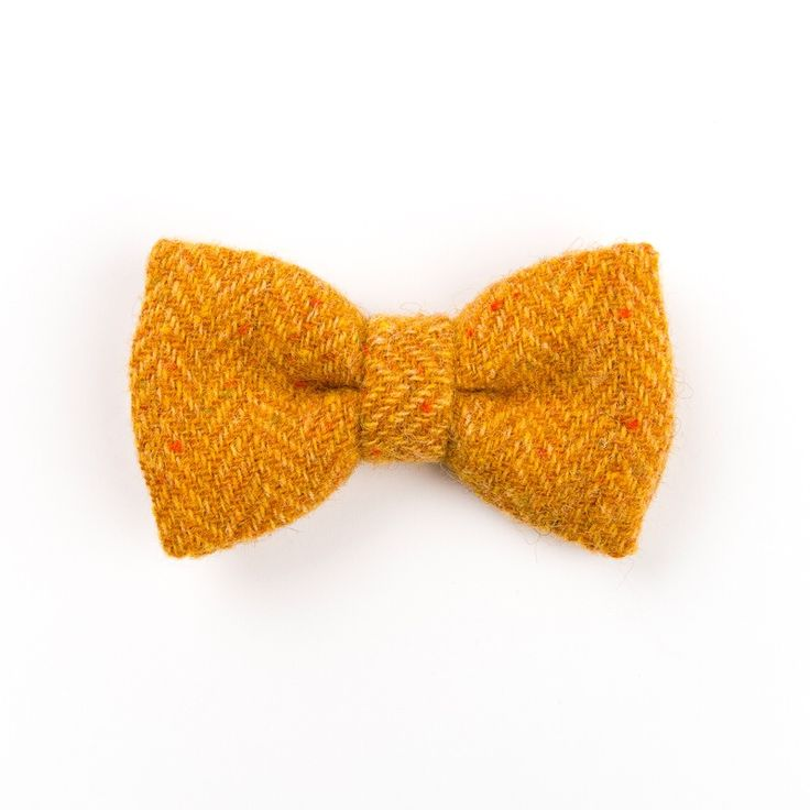 """Speckled Mustard"" #Donegal #tweed #bowtie. Designed and #handmade in #Ireland. FREE Worldwide Shipping!"