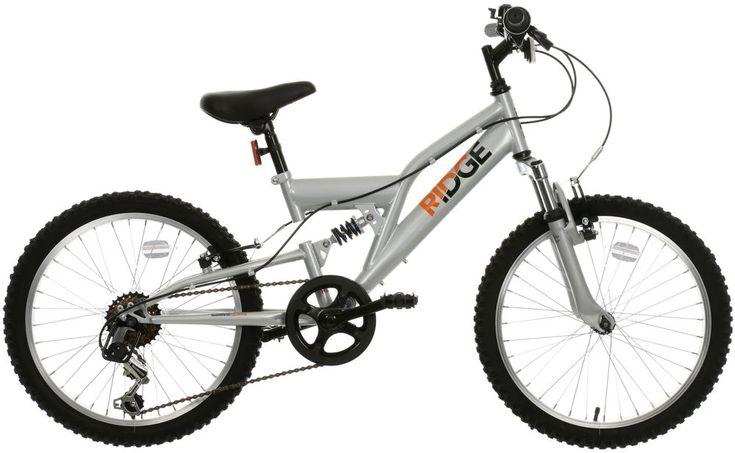 "Ridge Full Suspension Junior Kids Mountain Bike Bicycle 20"" Steel Suspension | Sporting Goods, Cycling, Bikes | eBay!"