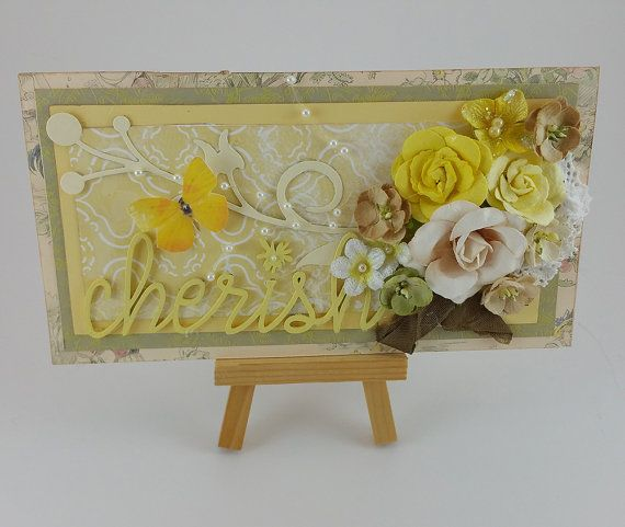 Cherish Floral Greeting Card that includes a by SillySalCreates