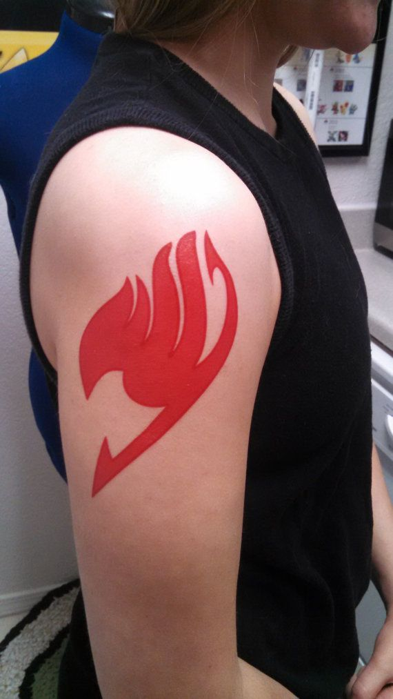 This temporary tattoo makes a perfect addition to any Fairy Tail cosplay. They are designed to mimic the guild symbol of Fairy Tail, and each