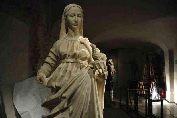 """Benedetto Briosco, """"Santa Agnese"""", Milano, Museo del Duomo."""