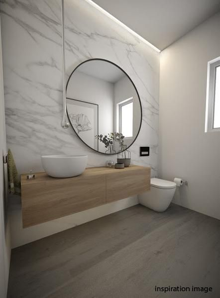 Argie Round Mirror - Solid steel carves an impressive outline to this grand statement piece. Adds light and space to any room. Available in 3 sizes. #Luxurybathrooms
