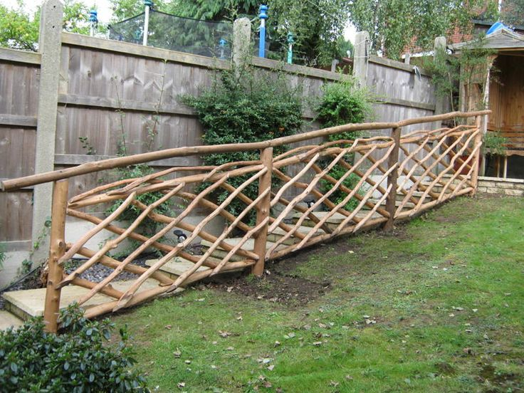16 best images about garden railings on pinterest rustic for Rustic fence ideas