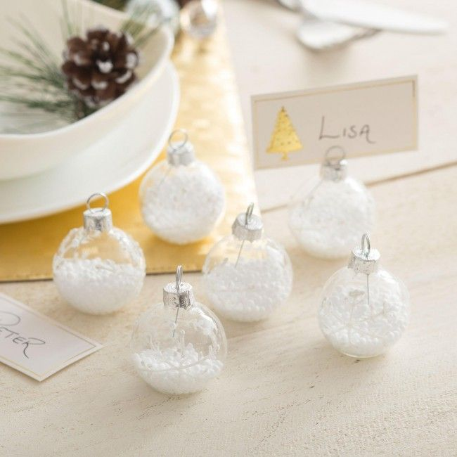 Let everyone know where to sit at Christmas dinner with a set of Festive Name Card Holders.