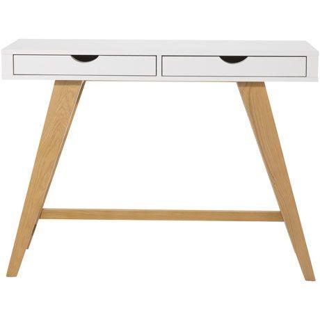 Frieda 2 Drawer Console Table Oak/White | $399