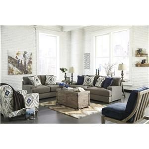 Signature Design By Ashley Furniture Carlino Mile   Mineral Stationary Living  Room Group   96901 Living Part 40