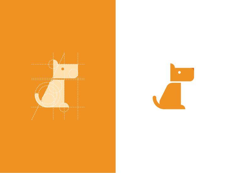 Geometric Dog Logo
