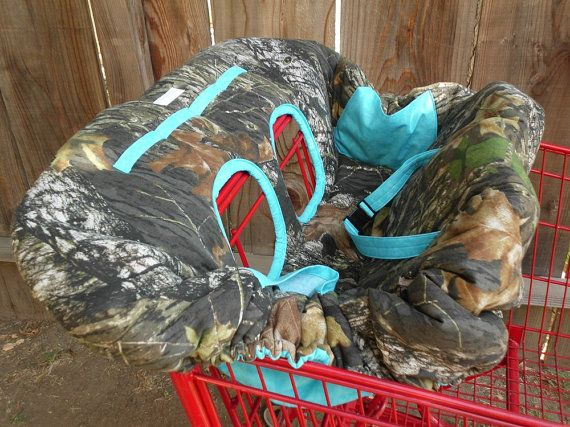 MOSSY OAK CAMO and Aqua Blue Fully Padded by CrystalsCreations22