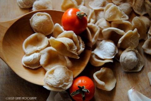 Orecchiette, home made pasta from Puglia. yummy!!!  https://www.facebook.com/LucillaCumanPhotography