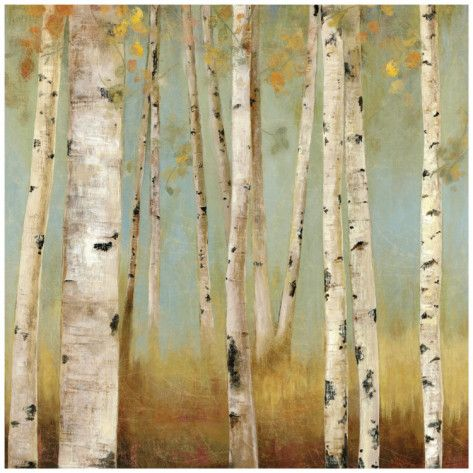 Birch tree art print For my new burnt orange bedroom Homesense