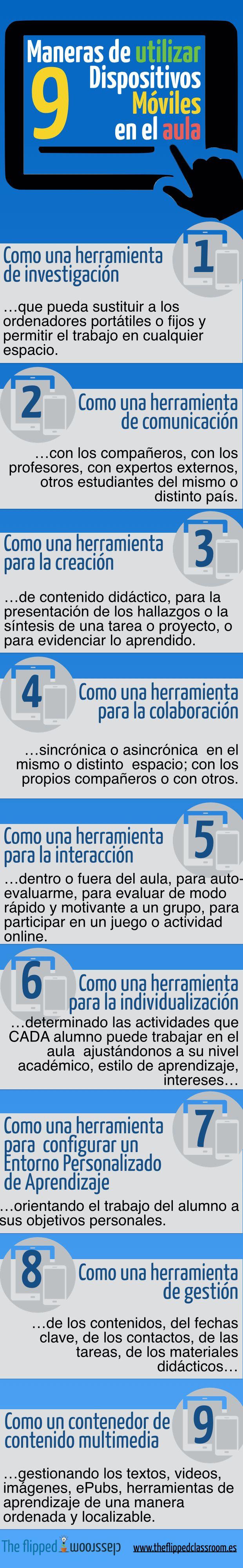 9 formas de usar dispositivos móviles en el aula