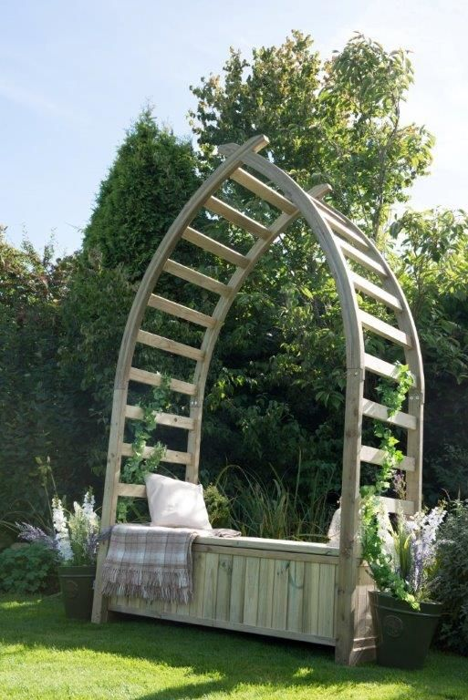 The Whitby Arbour is inspired by the iconic whalebone arch on Whitby's seafront and will create a fantastic focal point in any garden.