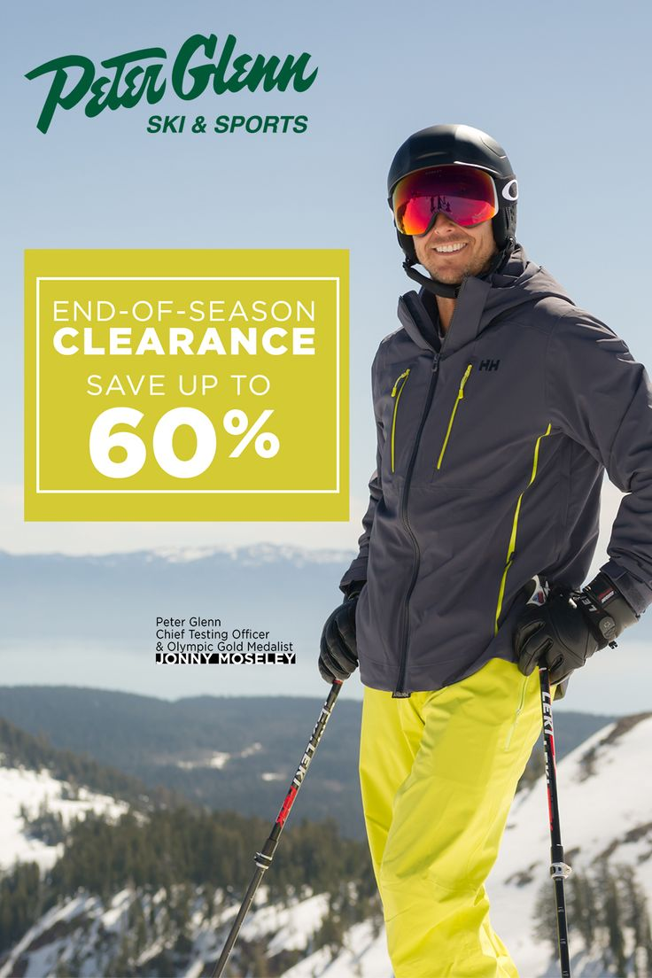 Save up to 60 on ski/snowboard gear and apparel at Peter