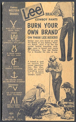Lee jeans western brands -burn your own brand