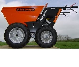 The Muck Truck Power Barrow holds up to 250kgs. The 4WD Muck Truck Power Barrow moves building materials over most terrains. The Muck Truck is used by builders, landscapers and tree surgeons. http://www.fresh-group.com/muck-truck.html