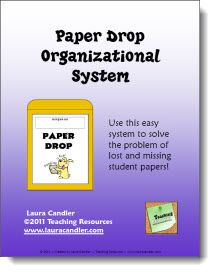 Paper Drop System - Perfect for next year, I used it in a 3rd/4th grade class and 5th grade and made life so easy!