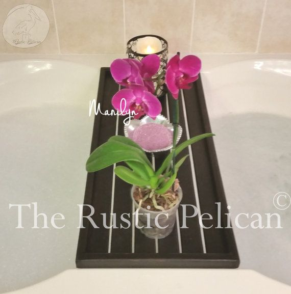Rustic Bathtub Tray  Bathtub Caddy Tub Tray Wood di RusticPelican