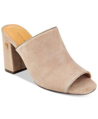 TOMMY HILFIGER  Tommy Hilfiger Sayna Peep-Toe Slide Sandals . #tommyhilfiger #shoes # sandals