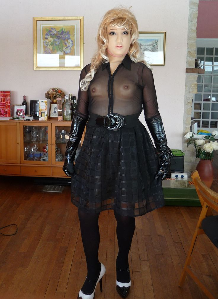 Sheer top with net skirt - I'm such an innocent abroad.