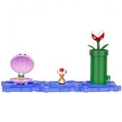Playset Micro Figure Super Mario Bros Wii U Serie 2   Sparkling Waters