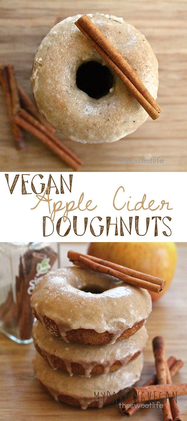 The perfect fall pastry: Vegan Apple Cider Doughnuts. Click the photo for the full recipe.
