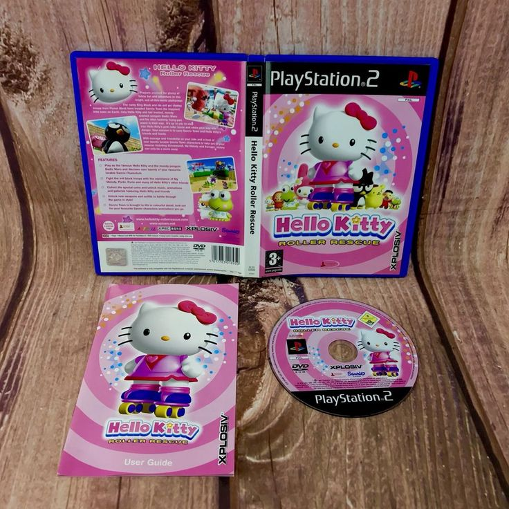 Ps2 video Game Hello Kitty 🐱 Roller Rescue PlayStation 2 pal kids Complete VGC