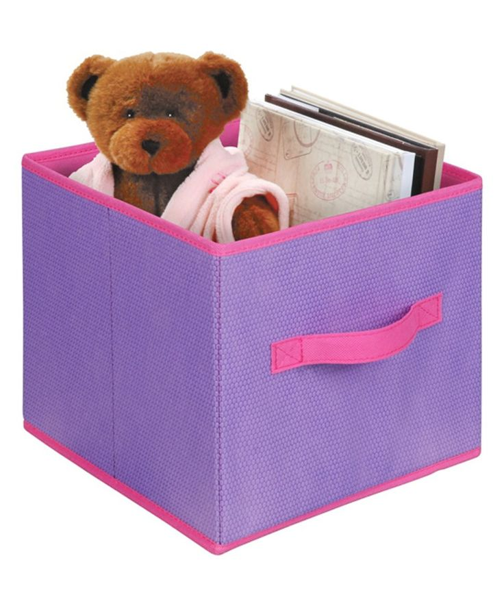 Take a look at this Purple & Pink Storage Box - Set of Three today!