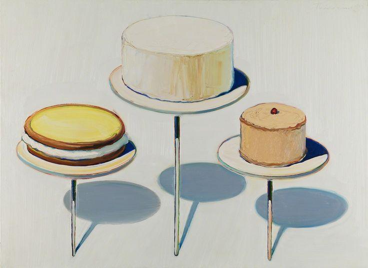 Wayne Thiebaud - 'Display Cakes' (1963) American Realism