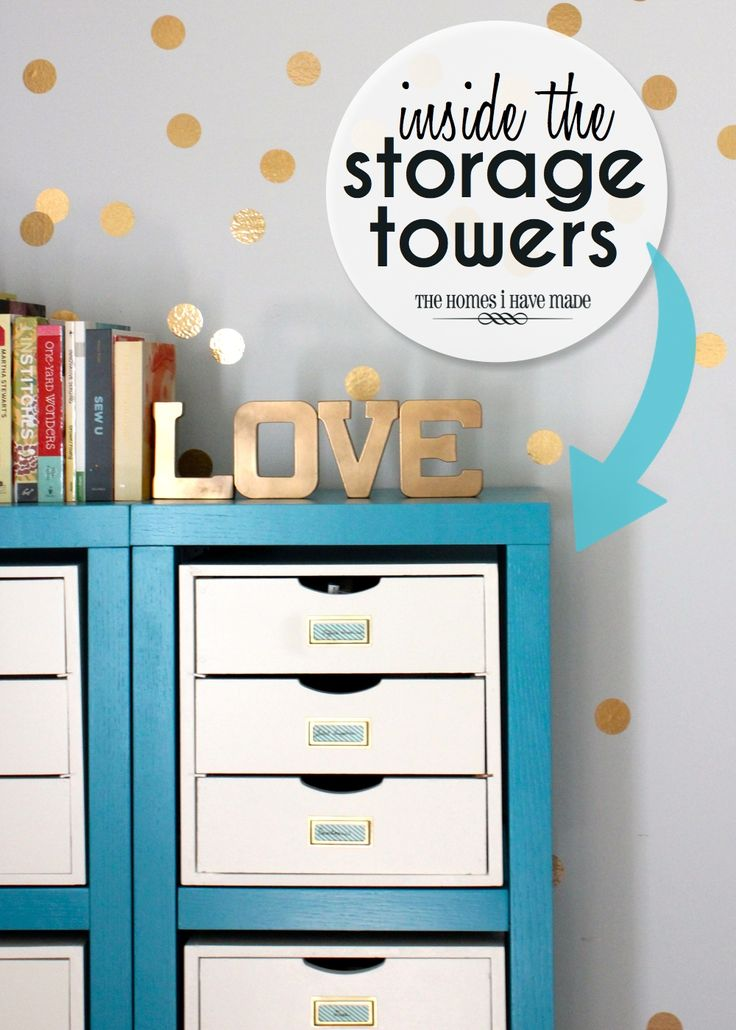 Stationary organizing  | Homes I Have Made: Inside the Storage Towers (More Office and Craft S...