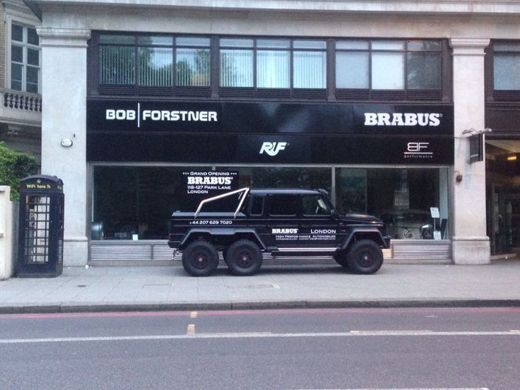 Our BRABUS 6x6 arrived in London