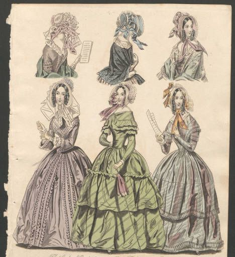Women 1843-1845, Plate 046 :: Costume Institute Fashion Plates: