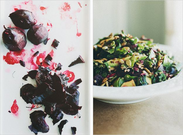 Beet Green Chopped Salad | 37 Colorful And Healthy Winter Salads