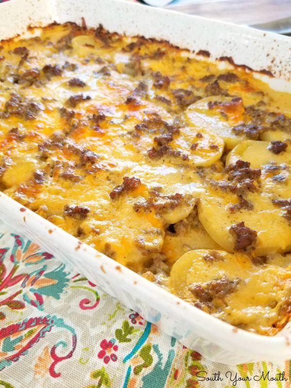 Hamburger Potato Casserole Recipe Hamburger Potato Casserole Potato Casserole Ground Beef Recipes