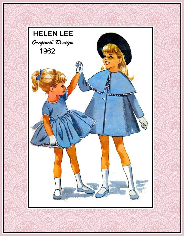 Vintage 1962-HELEN LEE Design Sewing Pattern- French School Girl MADELINE Style Coat with Capelet-Twirl Dress-Attached Petticoat-Size 3-Rare by FarfallaDesignStudio on Etsy