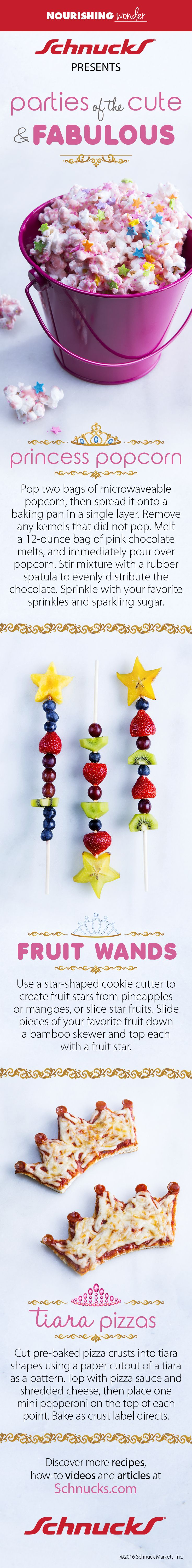 Pop star fruit - From Princess Popcorn To Fruit Wands And Tiara Pizzas These
