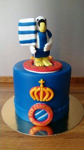 Tarta R.C.D. Espanyol cake
