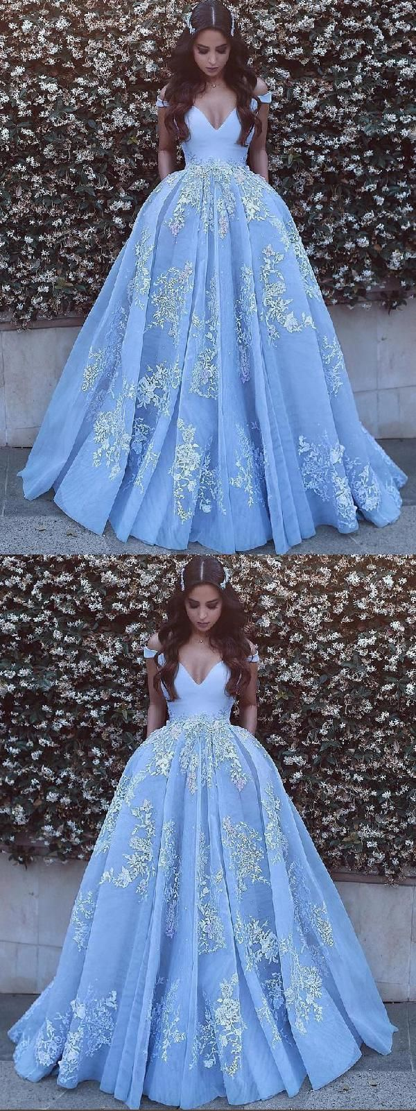 Awesome Prom Dress With Appliques #PromDressWithAppliques, Evening Dress Ball Gown #Even…
