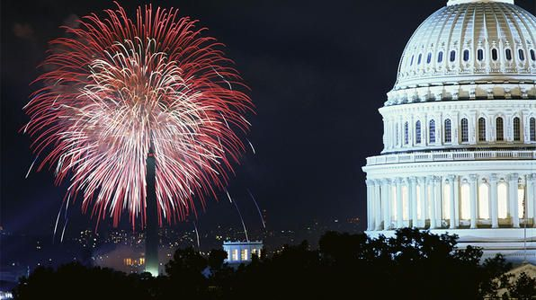 Fireworks in Washington, DC.