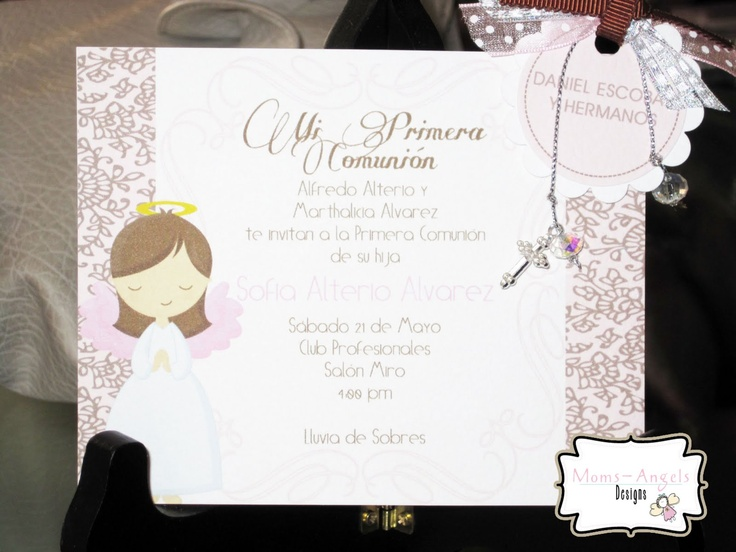 Moms-Angels: Invitaciones y decoraciones Primera Comunion para ...