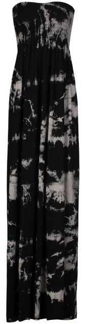 FOREVER WOMENS - MAXI DRESS - TIE DYE -- BLACK / BEIGE