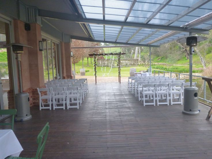 Gatehouse ceremony wet weather option. #GlenEwinEstate #Weddings #bridal #adelaidehills #photos #Gatehouse #weddingvenue #ceremonies