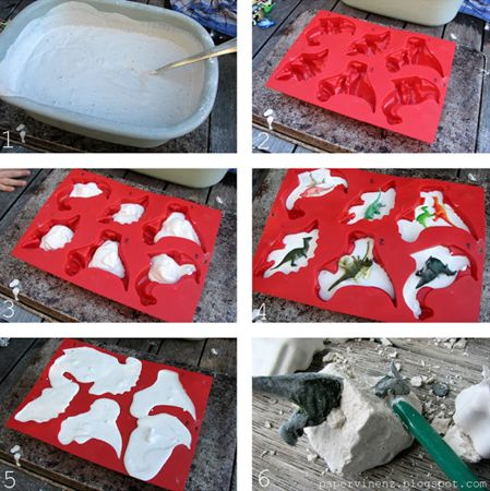 Do It Yourself Dinosaur Fossils: 25 DIY Summer Activities For Kids    Felicity Huffman's What The Flicka? #ideas #crafts #games
