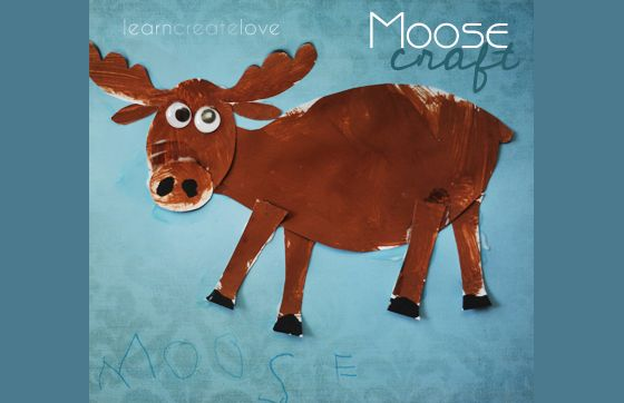 { Moose Craft with Printable }