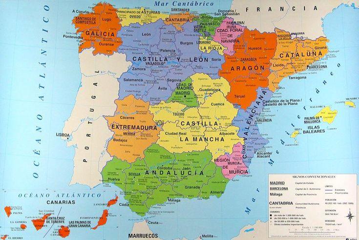 Mapa autonómico de España. Fuente.