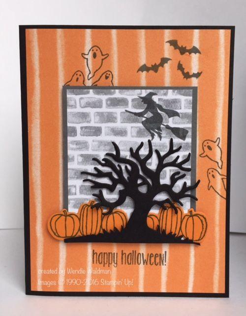 Happy Halloween FMS253 by tankergypsie - Cards and Paper Crafts at… SCS - SU - Spooky Fun & Halloween Scenes Edgelits bundle by Wendie Waldman
