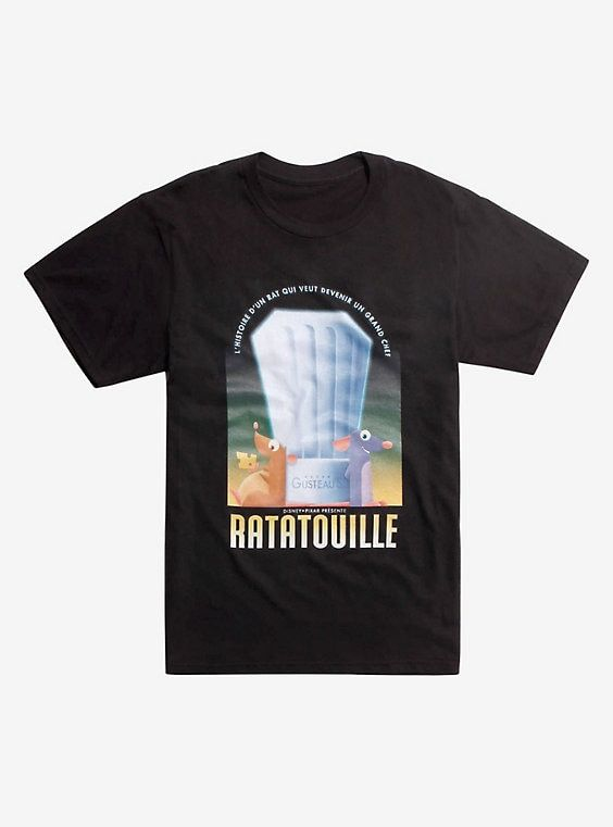 a0d44155 Disney Pixar Ratatouille French Poster T-Shirt in 2019 | In Search ...
