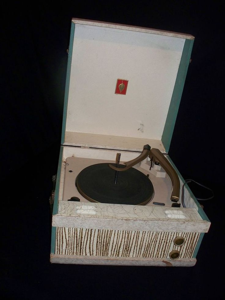 vintage suitcase record player speeds needles working condition model a