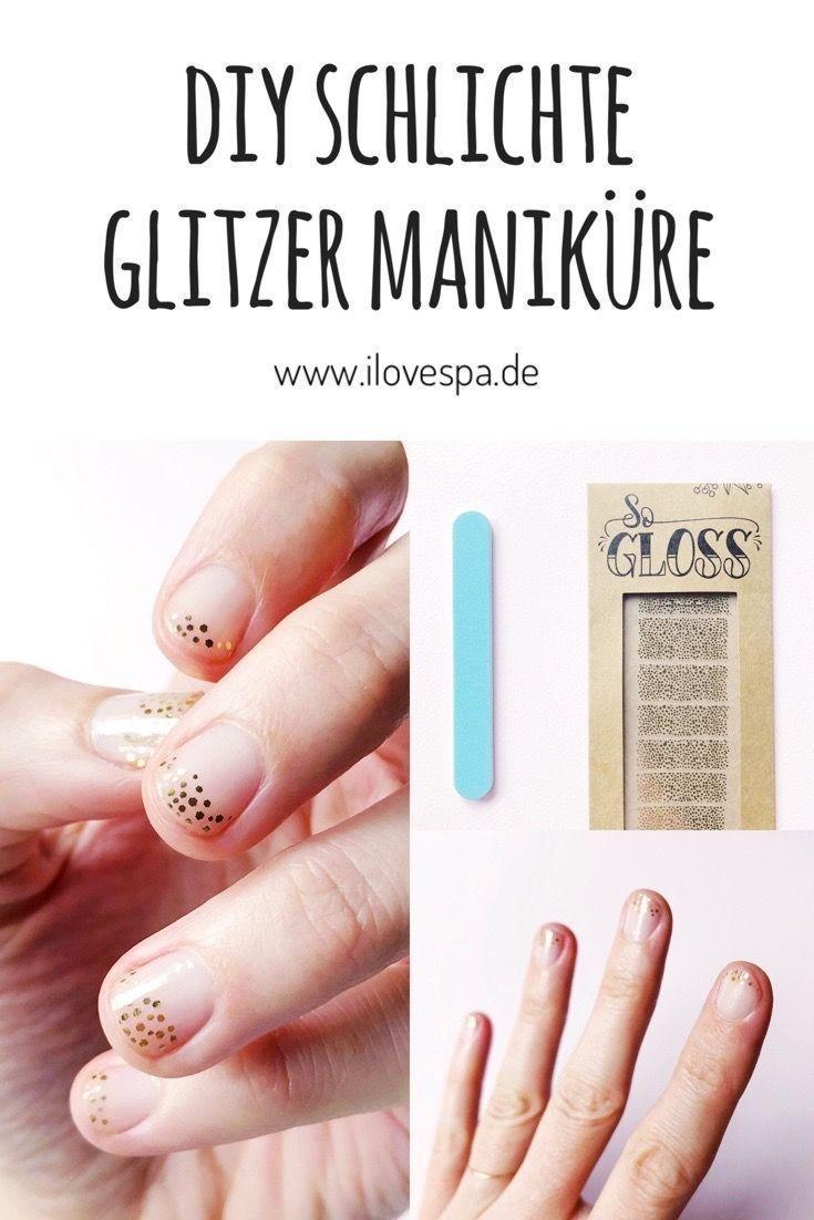 Festlicher DIY Manicure Glitter mit dem Gold Baile + # Bailey #classpintag #den #DI …