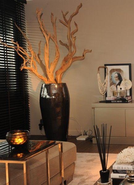 Metal Glaze Vase met ghostwood van